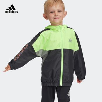 阿迪达斯/adidas阿迪达斯adidas小童装秋季训练运外套GG3571梭织面料