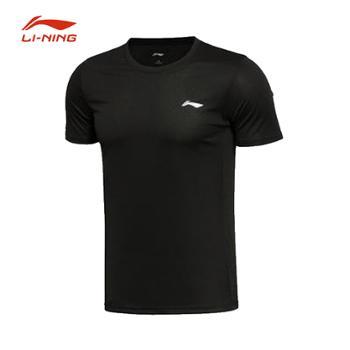 LiNing李宁速干短袖男士冰丝宽松健身训练T恤AHSR591