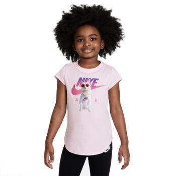 耐克NikeAIR幼童T恤针织运动轻便柔软舒适夏季新款印花DM3725-663