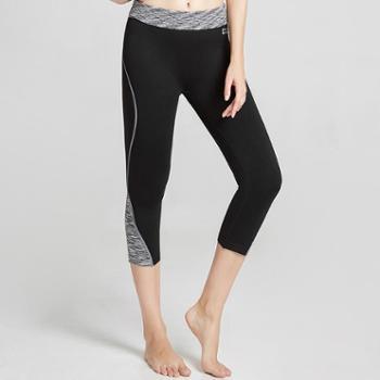 埃尔蒙特ALPINTMOUNTAIN女款户外运动瑜伽健身七分紧身裤