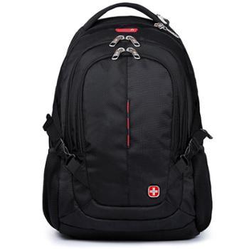 双肩包男女商务笔记本电脑包15.6英寸背包大容量旅行包防泼水书包CR-9001黑色