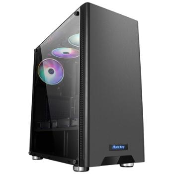 航嘉(Huntkey)侧透/支持ATX主板/宽体游戏电脑机箱烫金脚垫GS500C