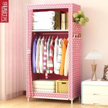 简易衣柜学生宿舍单人小衣橱置物整理收纳柜经济型钢管加粗布衣柜