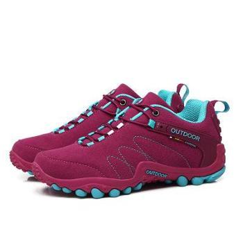 登山鞋男情侣户外鞋系带徒步鞋防滑耐磨越野跑鞋男女