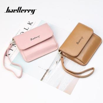 baellerry女士钱包韩版搭扣小手包多卡位短款钱夹零钱包