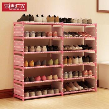 简易鞋架铁艺多层组装收纳鞋架现代简约防尘鞋柜