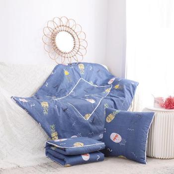 数码印花两用抱枕被办公室午休空调被(40*40cm展开105*150cm)