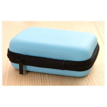 卡伊娜贴身收纳小帮手蓝色方形收纳包(耳机、数据线、数码产品、移动电源其他日用品)