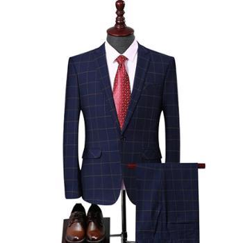 西服套装商务男士西装韩版修身正装职业婚礼西服套西