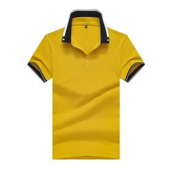 斯尔比特短袖T恤商务翻领上衣男士体恤衫T18302