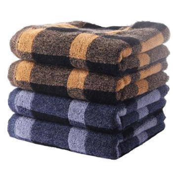 金号 毛巾 全棉提缎面巾英伦格G1361 四条装