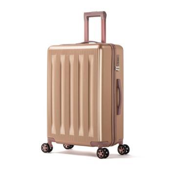 金蒂雅男女商务登机箱20寸复古旅行箱铝框拉杆箱万向轮密码箱静音登机箱