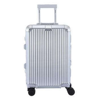 金蒂雅商务拉杆箱铝框登机拉杆箱静音万向轮密码箱复古旅行箱