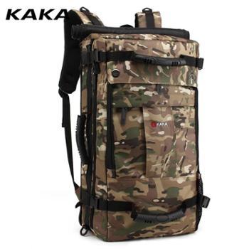 卡卡新款户外大容量背包男旅行包休闲双肩包中学生电脑带锁防水背包