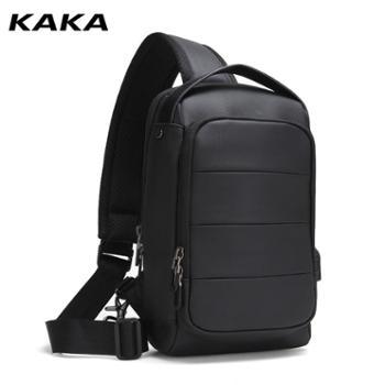 卡卡新款时尚收纳韩版高品质运动包男斜跨轻便防水胸包