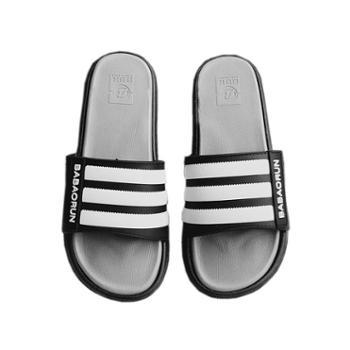 宜斯莱克时尚条纹拖鞋女夏外穿百搭厚底凉拖鞋防滑家用舒适韩版情侣一字拖