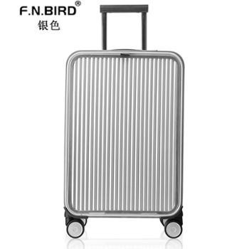 菲恩堡新款16寸登机箱万向轮铝镁合金女拉杆箱商务旅行小密码箱