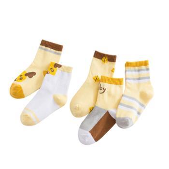 喵念/MeowRead5双装儿童卡通中筒棉袜系列2童袜