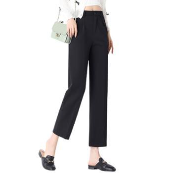 馨霓雅 女款高腰垂感九分裤 JV8175