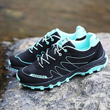 春季登山鞋女防水徒步鞋防滑运动旅游鞋户外鞋保暖男女鞋越野跑鞋160F128A