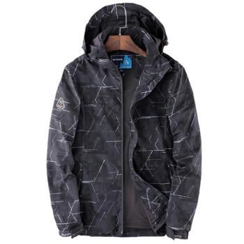 雷宾迪/LEIBINDI新款冲锋衣单层男女户外弹力透气登山服防90A02