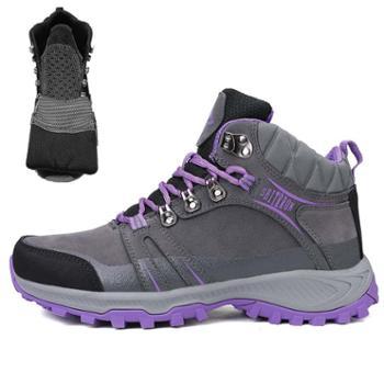 LEIBINDI/雷宾迪新款大码运动户外鞋保暖加绒防滑徒步鞋8069-1
