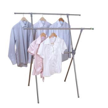 亿佰佳 晾衣架X型落地衣服架 折叠晒衣架 室内外不锈钢挂衣架 DC-404