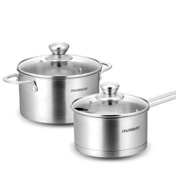 创生(CHARMS)创生锅具套装304不锈钢汤锅奶锅组合二件套TY2