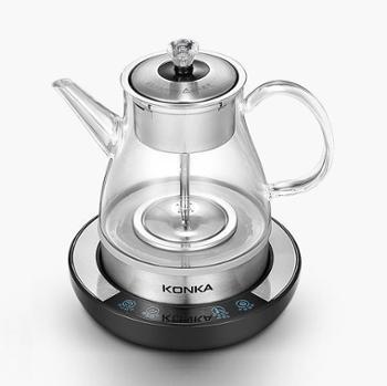 康佳 煮茶器玻璃加厚蒸汽喷淋式智能控温养生壶全自动多功能煮茶壶KGYS1016