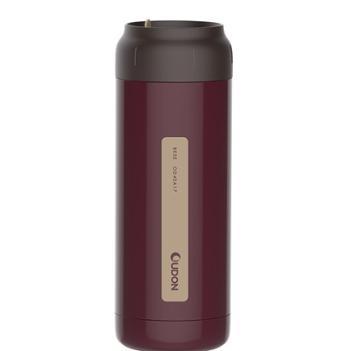 贝西不锈钢真空保温杯400ml男女商务时尚简约水杯OD-40A17枣红色