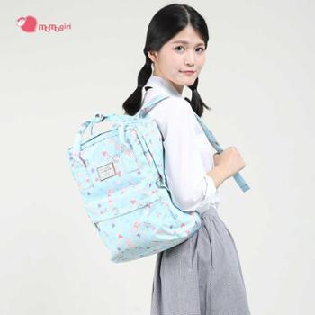时尚女包清新中小学生书包学院风帆布尼龙双肩包CX M5377