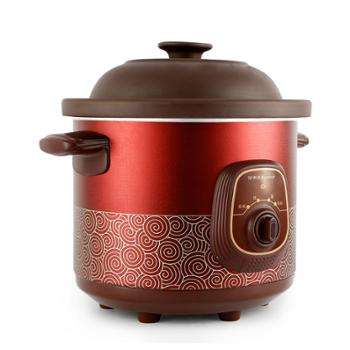 电炖锅荣事达RDG-35Z电炖锅紫砂锅电炖盅陶瓷煲汤锅煮粥锅