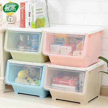 傲家抽屉式收纳柜塑料收纳箱日本可叠加自由组合储物柜衣柜收纳盒生活用品