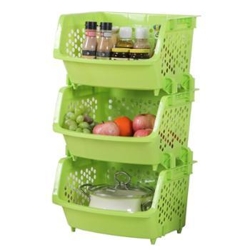 傲家果蔬收纳筐3层落地多层厨房用具菜篮子