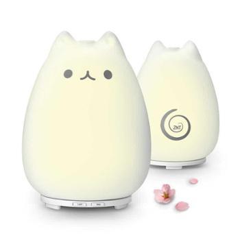 日本ZNT萌萌猫咪加湿器可爱家用办公卧室保湿超静音香薰喷雾器生活用品