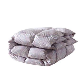 LOVO家纺 羽绒被子保暖被芯100%白鸭绒被褥子双人单人冬被 磨毛防钻绒白鸭绒被