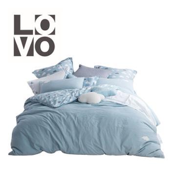 LOVO 床上四件套 水洗全棉系列特丽斯 适用1.5/1.8米床