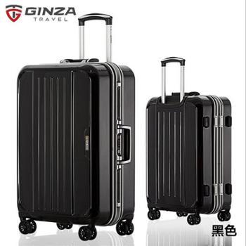 银座GINZA28寸欧美出口男女商务铝框拉杆箱303K