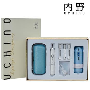 内野UCHINO 电动牙刷冲牙机套装礼盒 LE01282 智能声波高频震动
