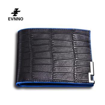 意威诺(evnno)短款钱包 超薄鳄鱼纹头层牛皮钱夹 Q0452