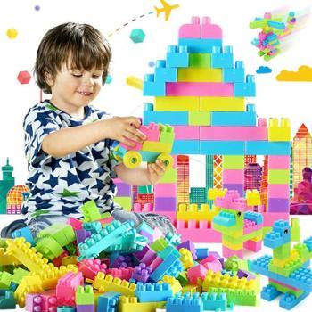 儿童积木680块大号宝宝拼装益智力开发玩具男女孩拼图3岁