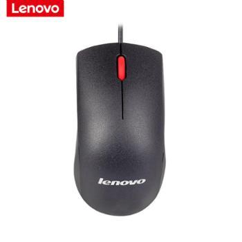 联想/lenovo有线鼠标USB光电鼠标通用家用办公鼠标