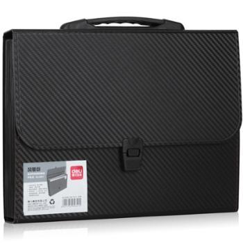 得力(deli)风琴包 A4手提多层文件夹 票据收纳文件包 5641-13格风琴包( 颜色随机)