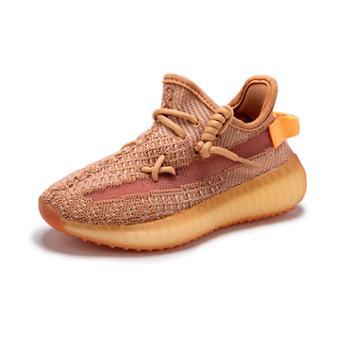 亲子椰子鞋男童网鞋春季款飞织女儿童运动鞋男女款休闲鞋