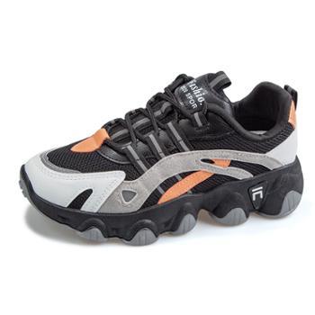 自由绽放KISSQUEEN新款女休闲运动鞋微增高透气舒适女鞋2032