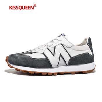 自由绽放KISSQUEEN新款男休闲运动鞋跑步鞋透气防滑21888