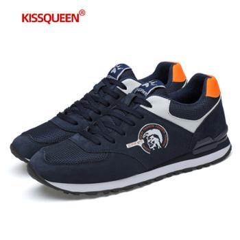 自由绽放积分兑换KISSQUEEN新款男休闲运动鞋跑步鞋透气防滑21999