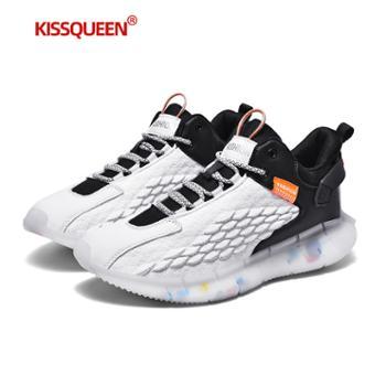 自由绽放KISSQUEEN新款男休闲运动鞋跑鞋透气柔软高弹轻质067