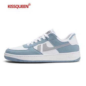 自由绽放KISSQUEEN新款男休闲运动鞋小白鞋板鞋透气跑步男鞋5866