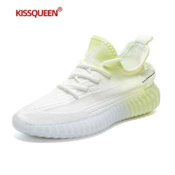 自由绽放KISSQUEEN新款男休闲运动鞋柔软轻质透气男鞋F02-1